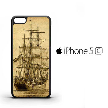 Vintage old ship Y0618 iPhone 5C Case