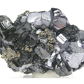 Metallic Crystal Cluster Galena Pyrite Sphalerite Bright and Shiny Ore Mineral Specimen from Mexico mined in the 1980's