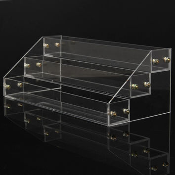 3 Tiers 20 Bottles Acrylic Nail Polish Organizer Clear Separable Makeup Varnish Rack Display