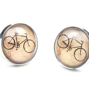 Retro Bicycle Cuff Links
