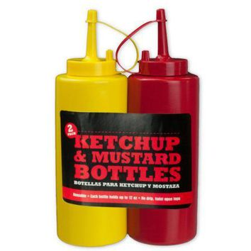 Ketchup and Mustard Bottles (Available in a pack of 12)