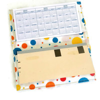 Checkbook Cover | Colorful Dots Checkbook Cover | Yellow Blue Red Dot Checkbook Cover