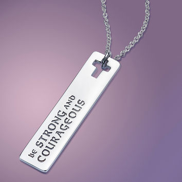 Strong & Courageous Sterling Silver