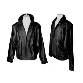 Men's Leather Jacket, Biker Jacket, Motorcycle Jacket, Black Leather Jacket, Men's XL
