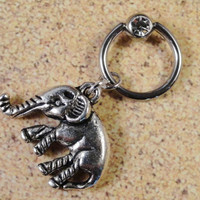 Elephant Belly Button Captive Ring Jewelry