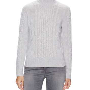 Cashmere Cable Knit Turtleneck Sweater