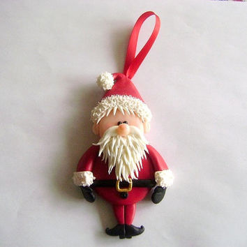 Santa Ornament. Christmas Ornament. XMas Decorations. Holidays Decor. Holidays Gift Ideas