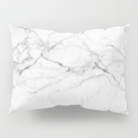 Marble Texture Pillow Sham by Printapix