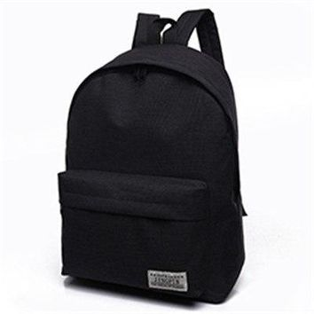 University College Backpack new solid color canvas shoulder bag female high school students Korean version of the small fresh  wind  menNB015AT_63_4
