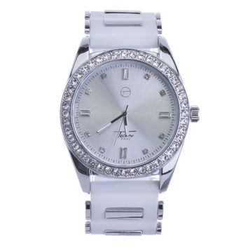 Jewelry Kay style Men's Teen's New Fashion Hip Hop Iced Out Bling Bullet Band Watches WR 8242 SWH