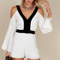 So Sophisticated Romper White