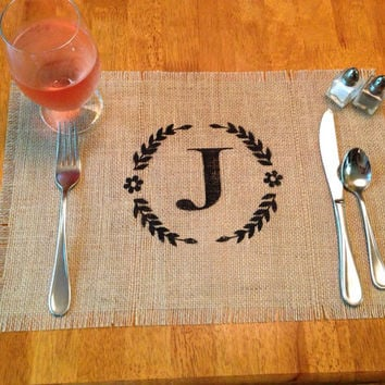 Burlap Placemats - set of 12