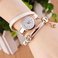 Womens Girls Gold Band Strap Bracelet Watch Best Gift watches-442