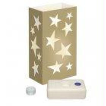 12 Luminaria Kits - Gold Stars