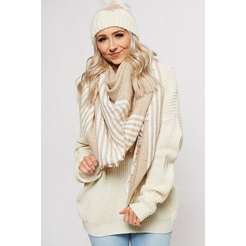 Bundle Me Up Blanket Scarf (Brown)