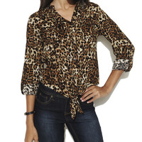 Animal Tie Front Top  | Shop Tops at Wet Seal