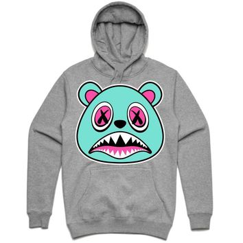 SOUTH BEACH BAWS Ash Grey Heather Sneaker Hoodie