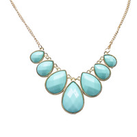 Chic Faceted Teardrop Pendants Necklace | Wet Seal