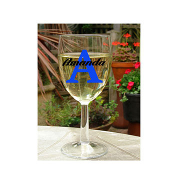 Dinner Party Favors ~ Monogram Wine Glass ~ Hostess Birthday brunch thank you, party favors wine lovers ~ large wine glass