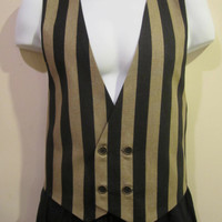 PRINCE CHARMING Tan and Black Stripe Victorian by loriann37
