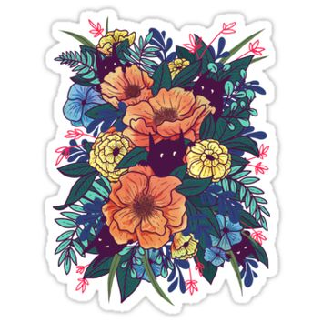 'Wild Flowers' Sticker by littleclyde