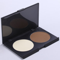 Cosmetic 2 Colours Natural Highlight Shadow Bronzing Powder Palette