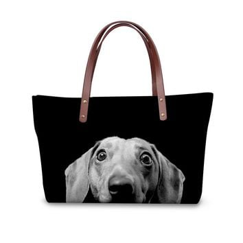 Animal Prints Cute 3D Dachshund Cross-body Bags