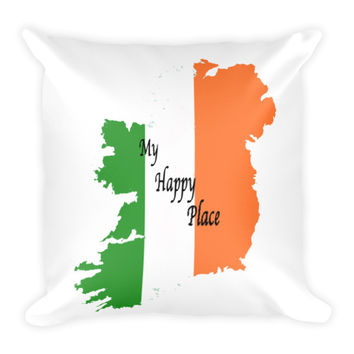 Ireland My Happy Place Pillow