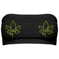 my two best buds weed marijuana bandeau tube top