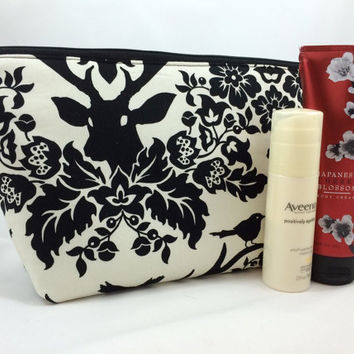 Antler Damask Extra Large Cosmetic Bag Makeup Bag Gadget Bag