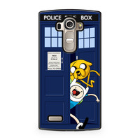 Adventure Time Jake Finn In Dr Who Tardis Call Box LG G4 case
