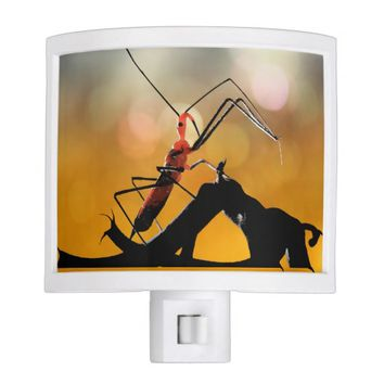 Scary Creepy Garden Assassin Bug Halloween Night Light
