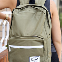 "Herschel - Pop Quiz 15"" Laptop Backpack - Army/Navy Rubber"
