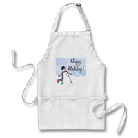 APRON HAPPY HOLIDAY CHRISTMAS
