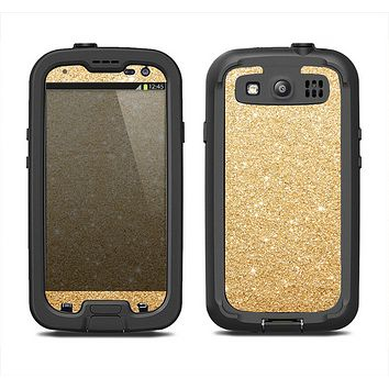 The Gold Glitter Ultra Metallic Samsung Galaxy S3 LifeProof Fre Case Skin Set