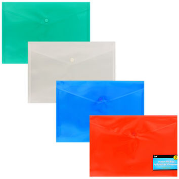 Bulk Button File Bags with Snap Closures, 3-ct. Packs at DollarTree.com
