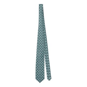 Glowing style blue abstract pattern tie