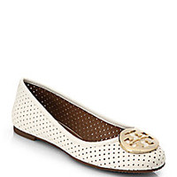 Tory Burch - Reva Perforated Leather Ballet Flats - Saks Fifth Avenue Mobile