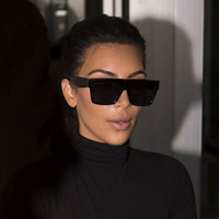 Square Celebrity Italy Brand Designer famous Kim Kardashian Sunglasses Lady UV400 Women Men Sun Glasses 50S Female