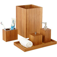 Walmart: Seville Classics 5-Piece Bamboo Bath and Vanity Set, Natural