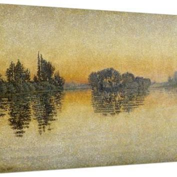 Sunset, Herblay, 1889 Giclee Print by Paul Signac at Art.com