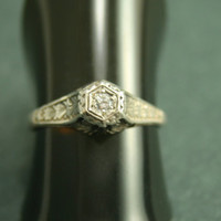 Edwardian Diamond Ring by CourtneyBache on Etsy