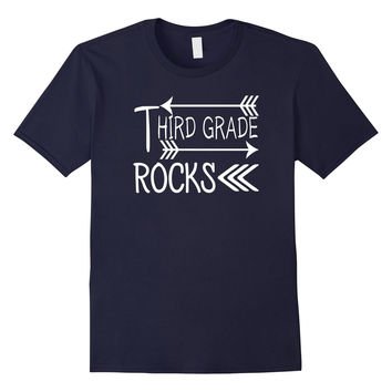 Third 3rd Grade Rocks Tshirt Teacher Student Women YOUTH