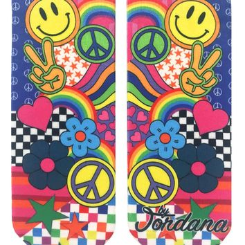 Peace And Patterns Ankle Socks