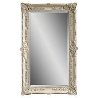 Mirrors, Garland Floor Mirror, Antiqued White, Floor Mirrors