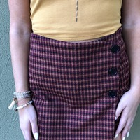 Never Be Alone Skort- Garnet