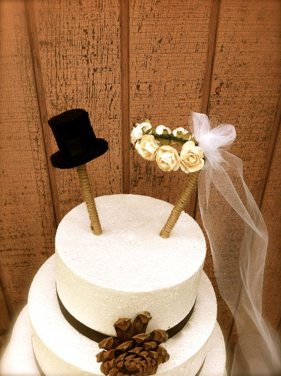 rustic wedding cake toppers rustic wedding cake topper country fall from momoradrose 7207