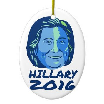 Hillary President 2016 Retro Ceramic Ornament