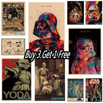 DCCKU7Q Star wars movie retro vintage poster