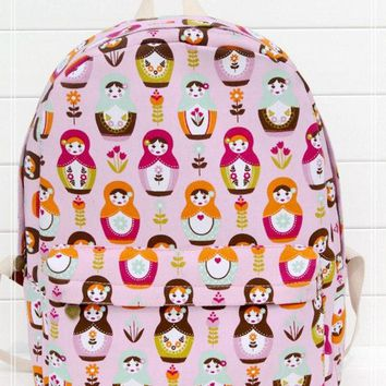 DCCKIX3 Cute Dolls Canvas Lovely Backpack = 4887577924